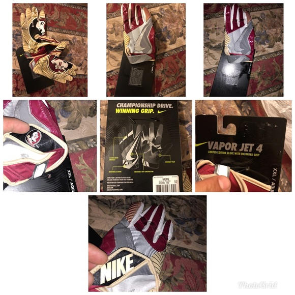 Nike Other - Nike Florida State Seminoles gloves sz large and 2